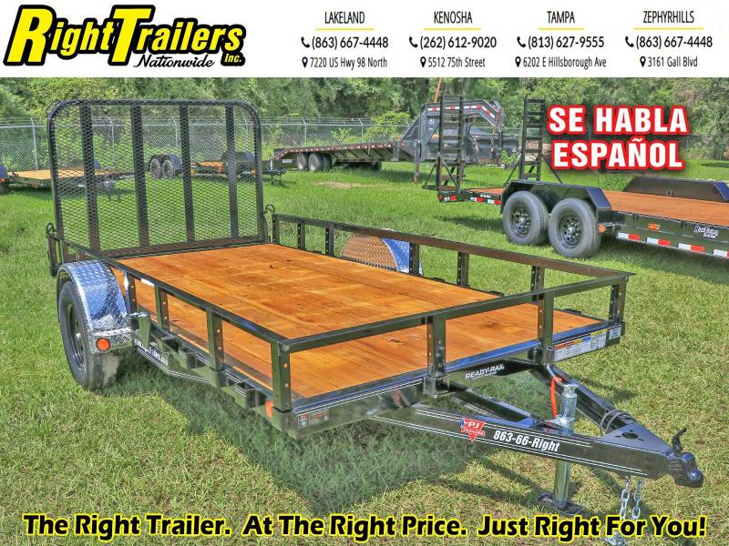 6.5X12 PJ Trailers 77 in. Single Axle Channel Utility (U7) Utility Trailer