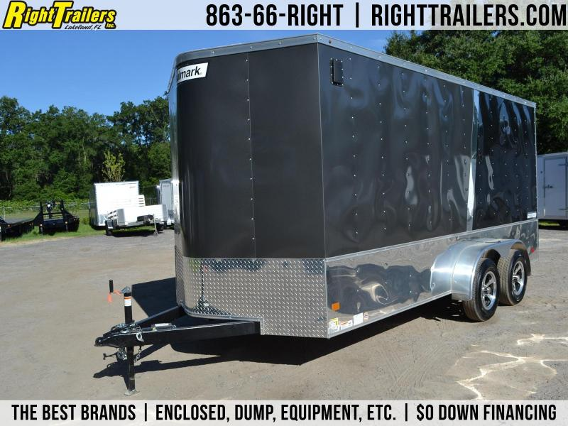 7x16 Haulmark | Enclosed Trailer [Two-tone Black and Silver]