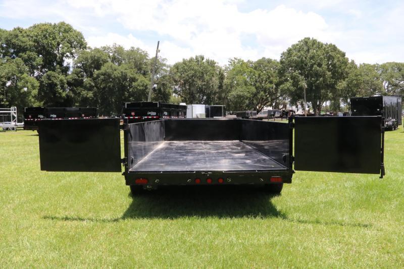 7x16 PJ Dump Trailer I w/ Tarp and Slide in Ramp