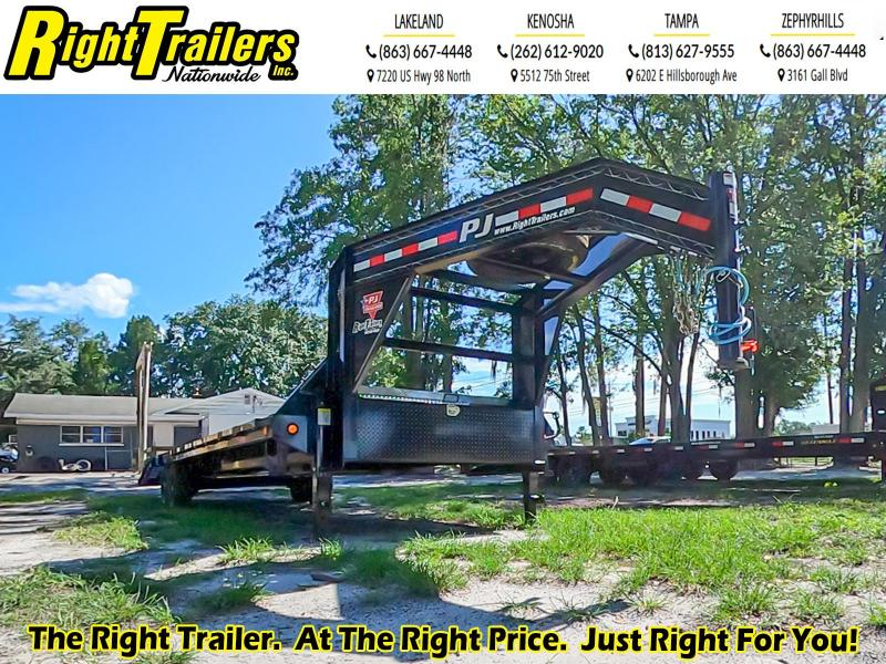 8.5X30 PJ Trailers Low-Pro Flatdeck with Singles (LS) Flatbed Trailer