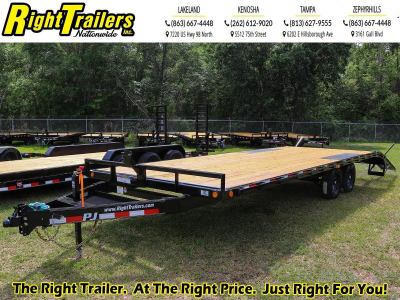 8X24 PJ Trailers Medium Duty I Flatbed Trailer