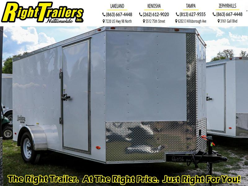 7x12 Red Hot Trailer I Enclosed Cargo Trailer