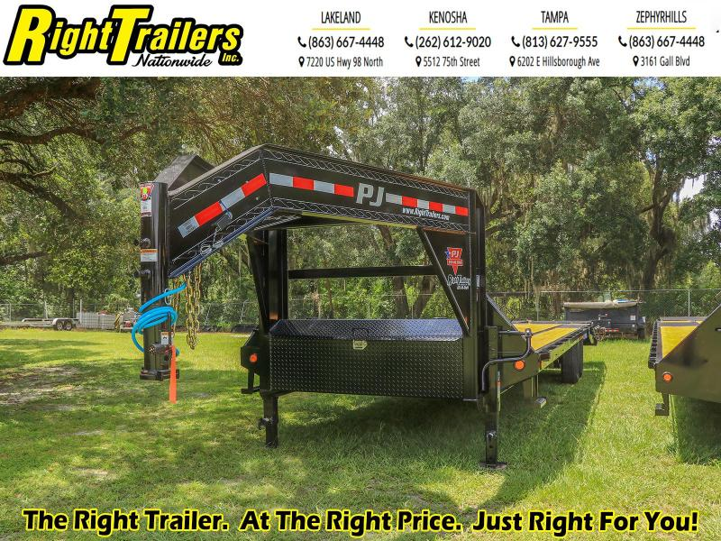 8.5X30PJ Trailers Low-Pro Flatdeck with Singles (LS) Flatbed Trailer