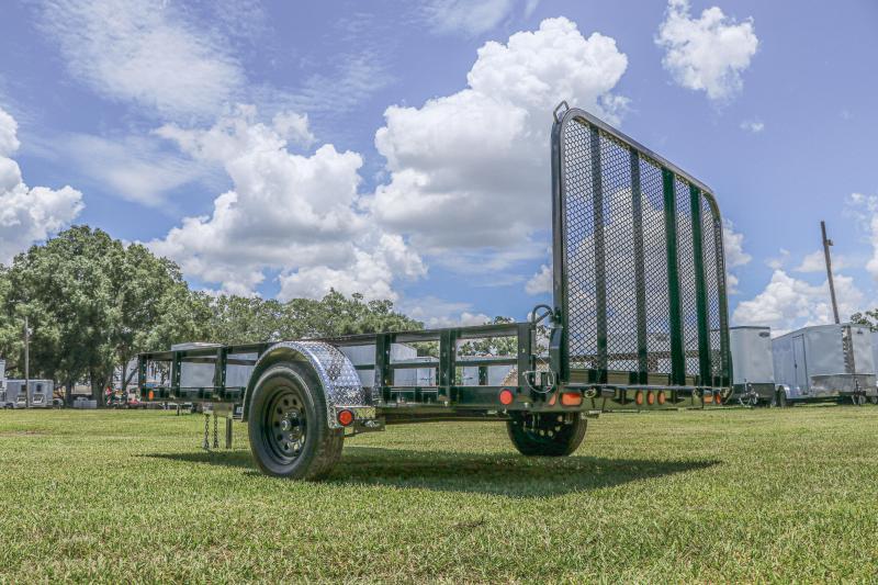 *11032* 7X12 PJ Trailers 83 in. Single Axle Channel Utility (U8) Utility Trailer