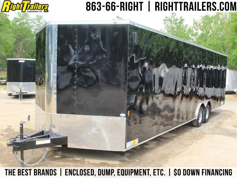 8.5x28 Continental Cargo | Enclosed Trailer [Black]