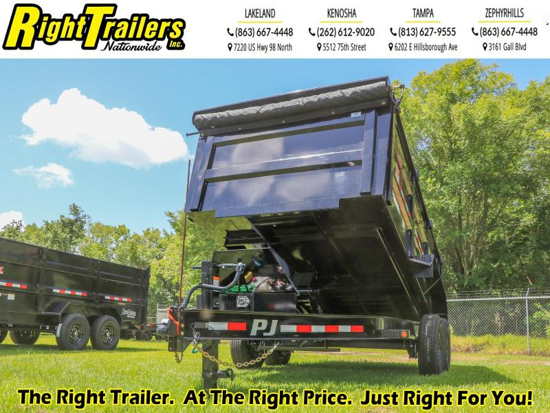 7X14X4 PJ Trailers 83 Low Pro High Side Dump (DM) Dump Trailer
