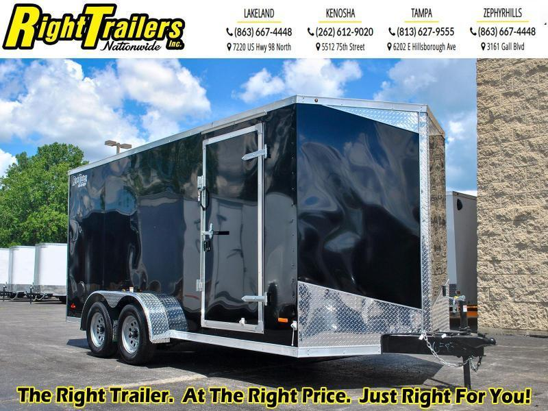 *58737* 7 x 16 RC Trailers I 7K Tandem Axle Enclosed Cargo Trailer