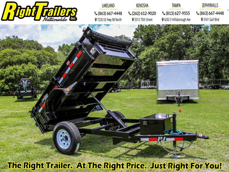 5x8 PJ Trailers   Dump Trailer
