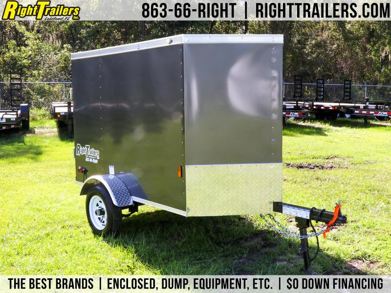 4x6 Continental Cargo   Enclosed Trailer