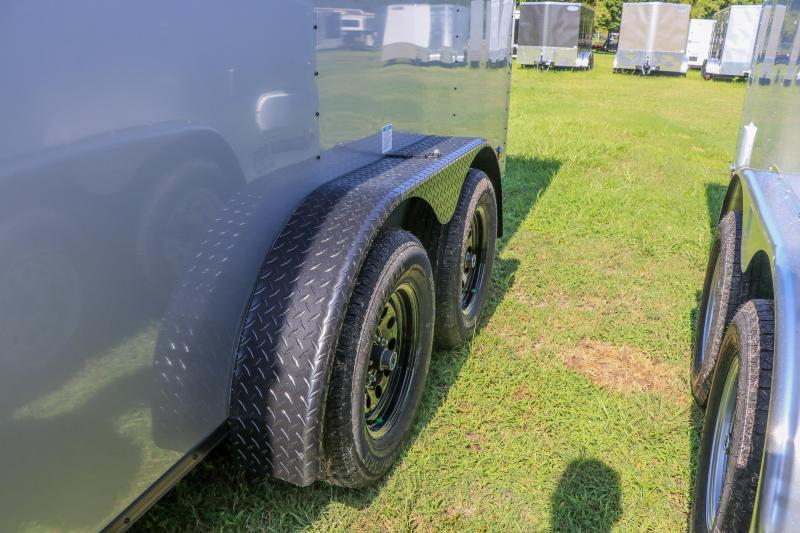 7X16 Continental Cargo Trailer I BLACKOUT TRIM AND WHEELS