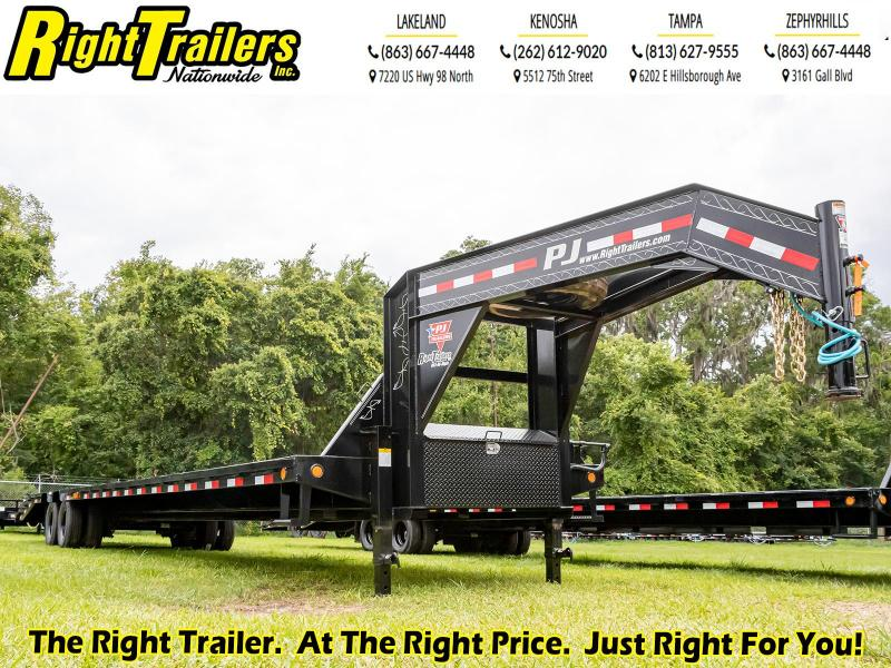 8.5X40 (35+5) PJ Trailers Low-Pro Flatdeck with Duals (LD) Flatbed Trailer