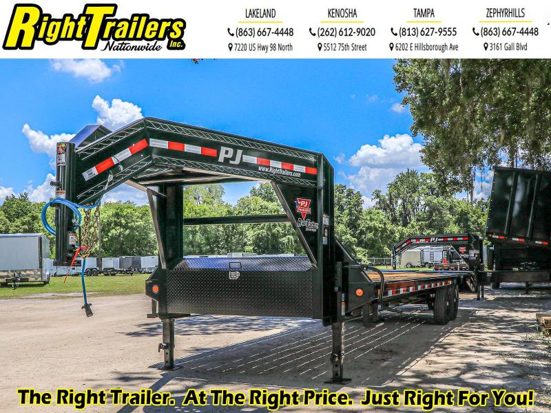 *42639* 8.5X30  PJ Trailers Low-Pro Flatdeck with Singles (LS) Flatbed Trailer