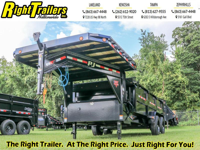 7X16 PJ Trailers HD Low-Pro Dump (DE) Dump Trailer