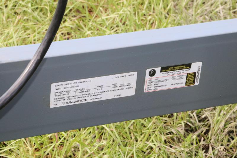 7x24 GPS   Equipment Trailer