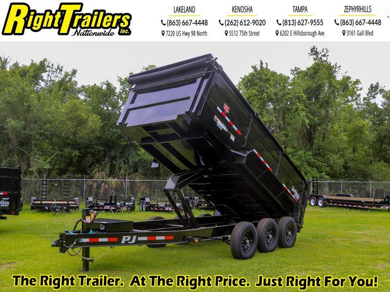 7X16 PJ Trailers 83 Low Pro High Side Dump (DM) Dump Trailer