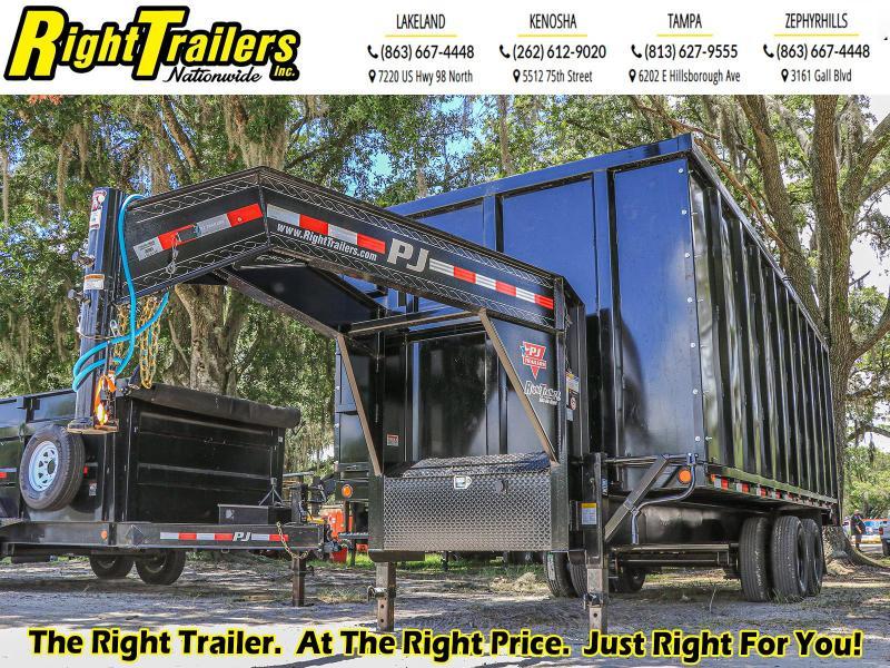 *40135* 8X20X6 PJ Trailers Tandem Dual Dump (DD) Dump Trailer