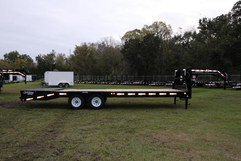 8.5x25 PJ Trailers Low-Pro Flatdeck with Singles I Flatbed Trailer