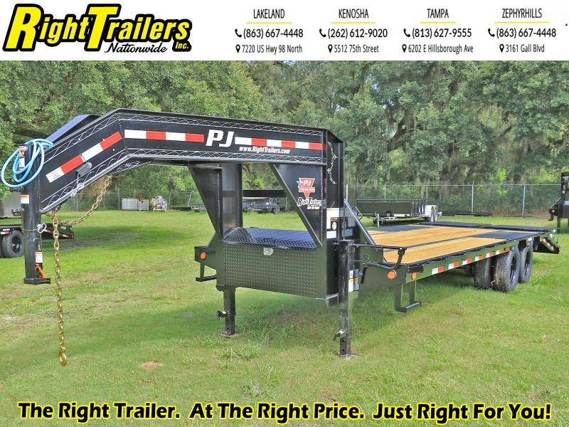 8.5X25 PJ Trailers Low-Pro Flatdeck with Duals (LD) Flatbed Trailer