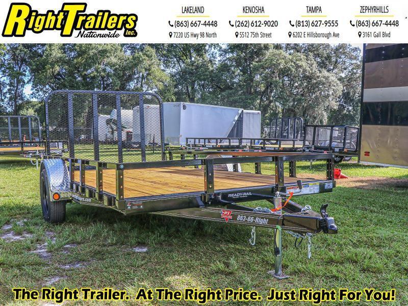6x12 PJ Trailers Single Axle Channel Utility Trailer