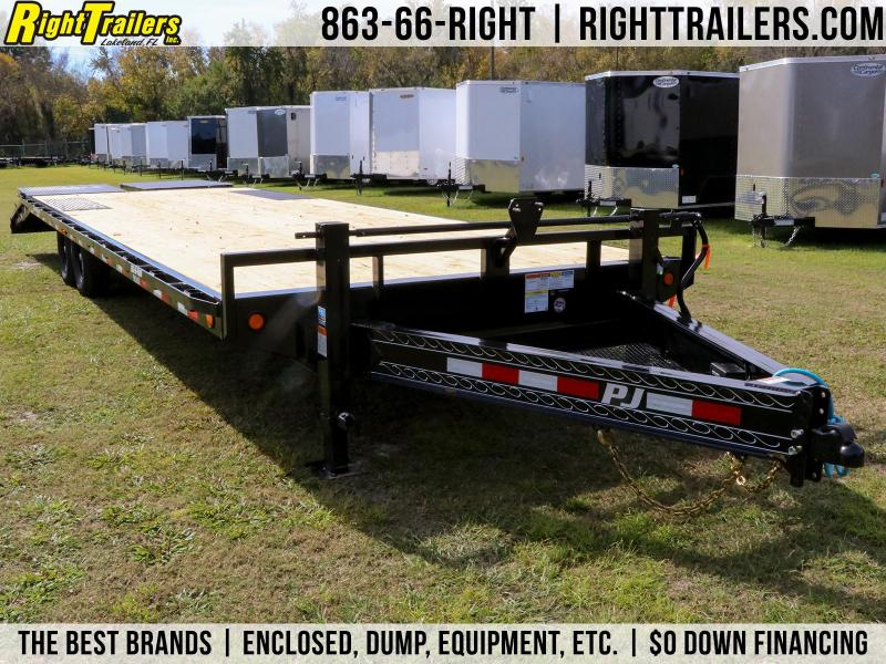 8x28 PJ Trailers Deckover   Equipment Trailer
