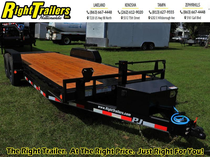 7X20 PJ Trailers Powered Full Tilt (TF) Equipment Trailer