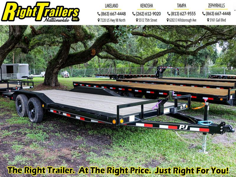 7X20 PJ Trailers I Equipment Trailer w/ Extra Deck Width