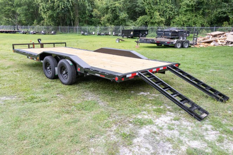 7X20 PJ Trailers I Equipment Trailer w/ Extra Deck Width