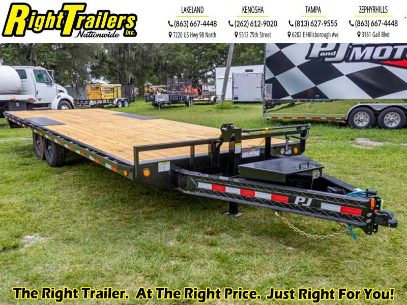 8.5X24 PJ Trailers Equipment Flatbed Trailer