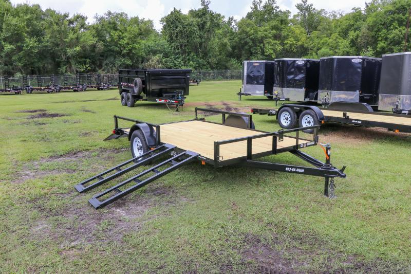 7X12 Red Hot ATV Utility Trailer
