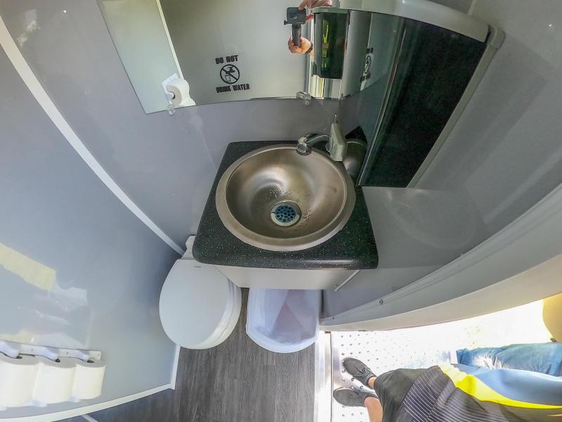 2 Station Combo Restroom Trailer I  Restroom / Shower Trailer