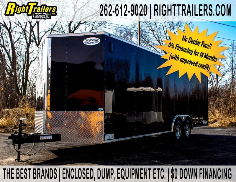 8.5X24 Continental Cargo TRA Enclosed Cargo Trailer