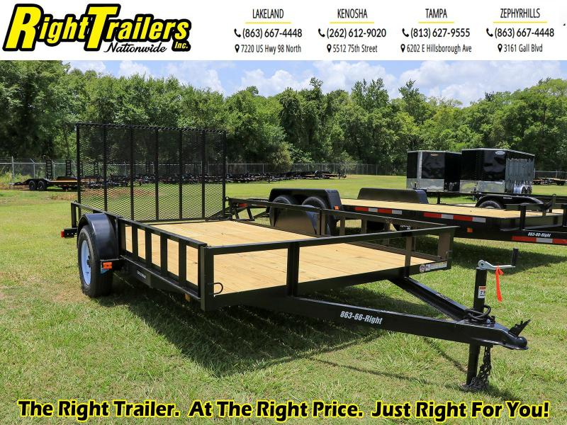7X12 ATV Red Hot Utility Trailer