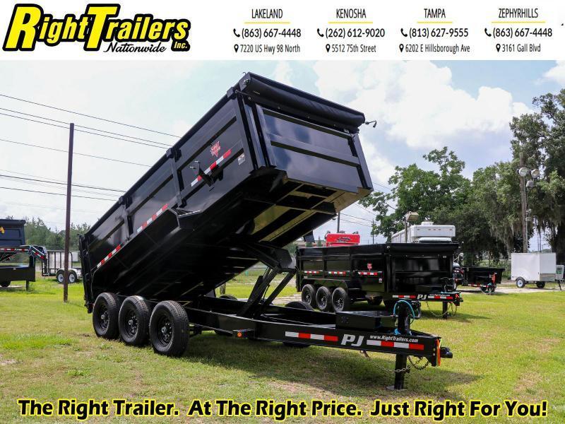 7X14X4 PJ Trailers 83 Low Pro High Side Dump (DM) Dump Trailer