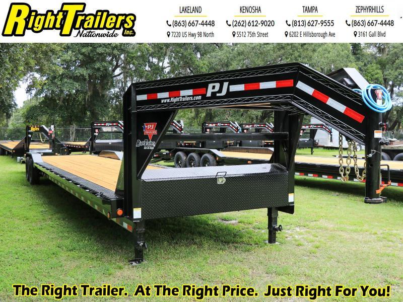 8.5X40 PJ Trailers Deckover Flatbed Trailer