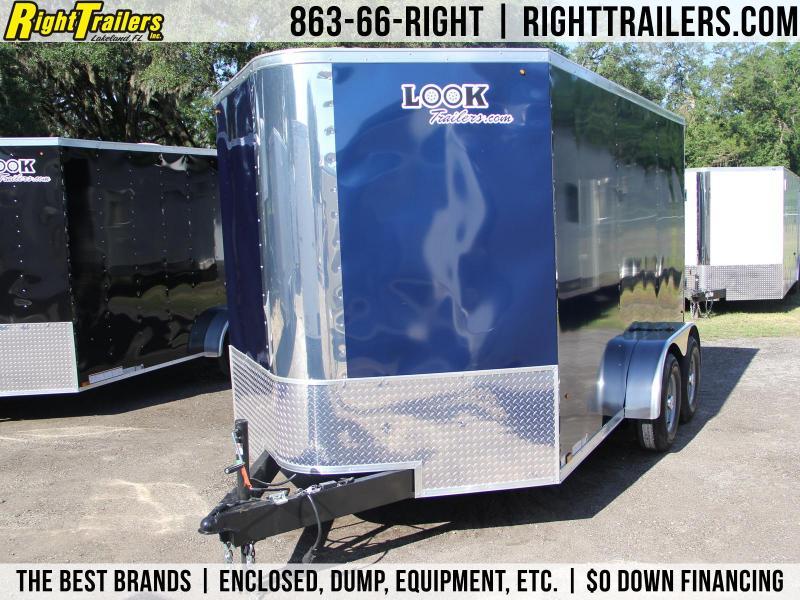 7x12 LOOK Vision   Enclosed Trailer [Indigo Blue]