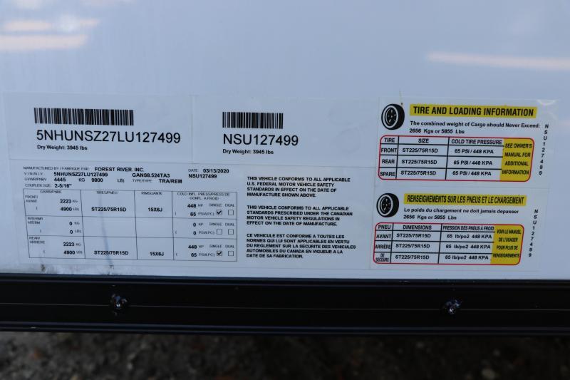 8.5X24 Continental Cargo Enclosed Race Car Trailer