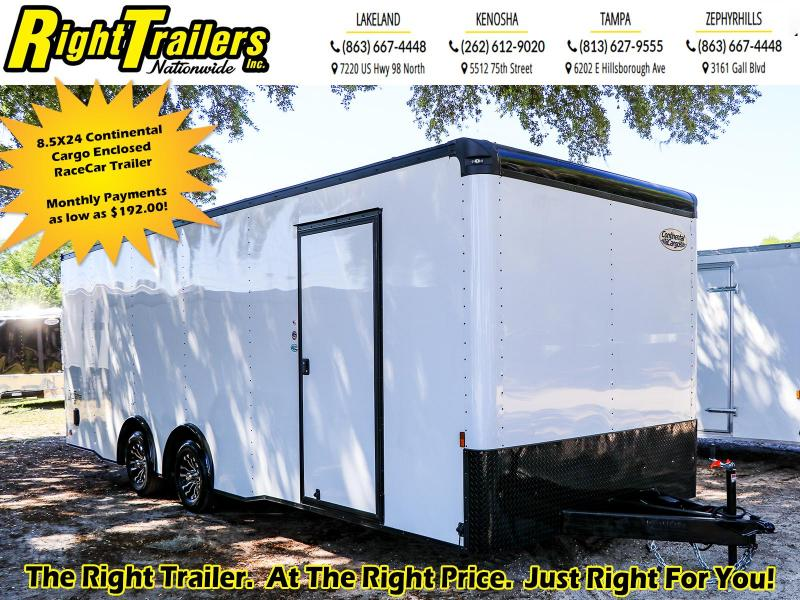 8.5X24 Continental Cargo Enclosed Race Car Trailer
