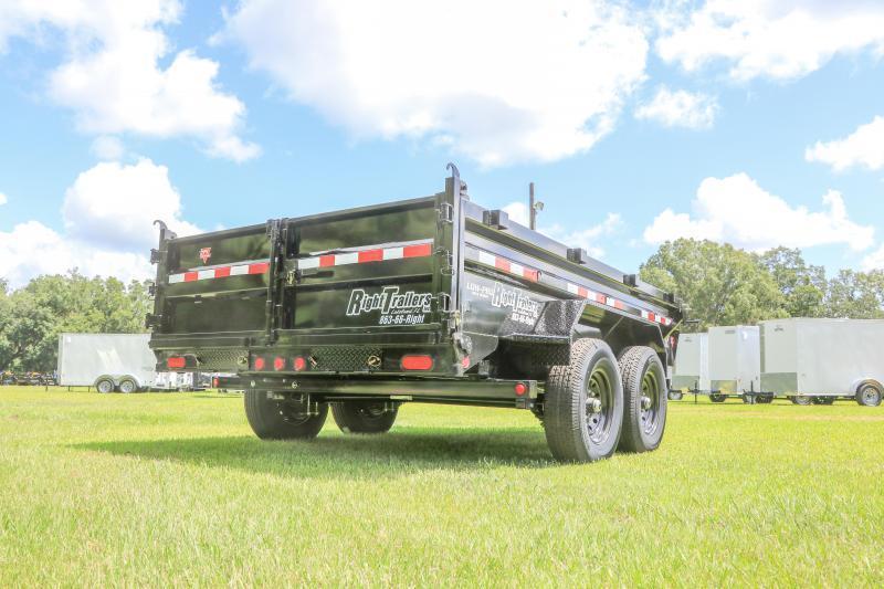 7X12 PJ Trailers 83 in. Low Pro Dump (DL) Dump Trailer