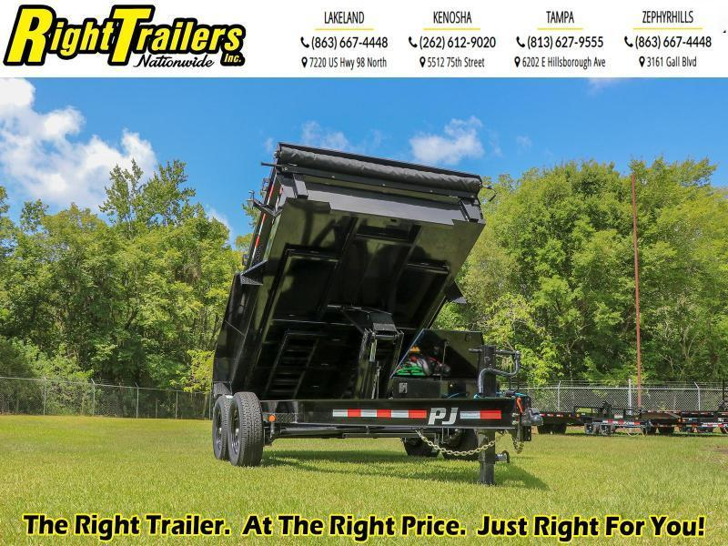 6X12 PJ Trailers 83 in. Low Pro Dump (DL) Dump Trailer