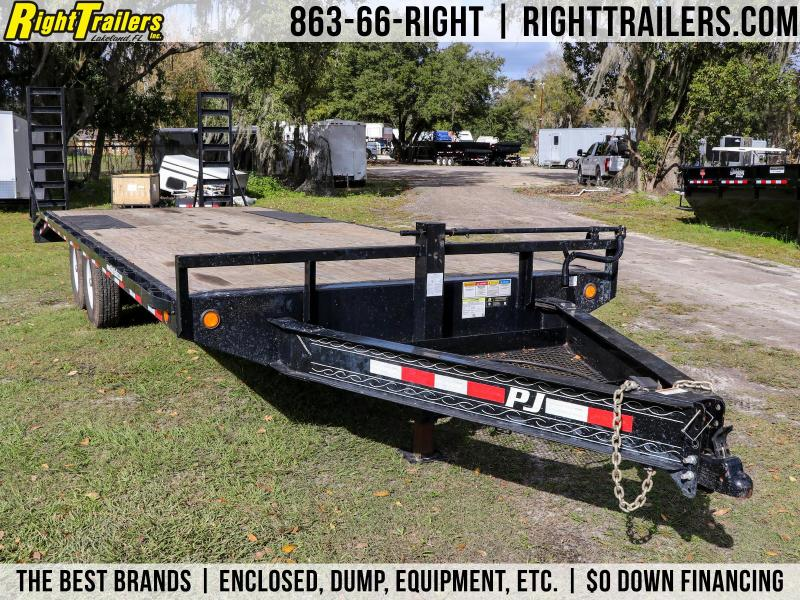 ( Used ) 8x22 PJ | Deck Over Equipment Trailer
