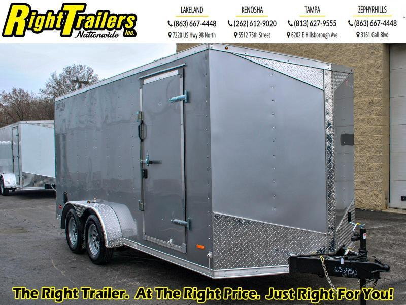 7 x 16 RC Trailers I 7K Tandem Axle Enclosed Cargo Trailer