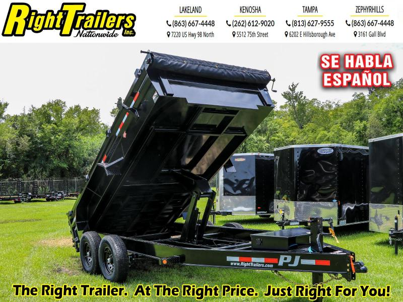 7X14 PJ Trailers 83 in. Low Pro Dump (DL) Dump Trailer