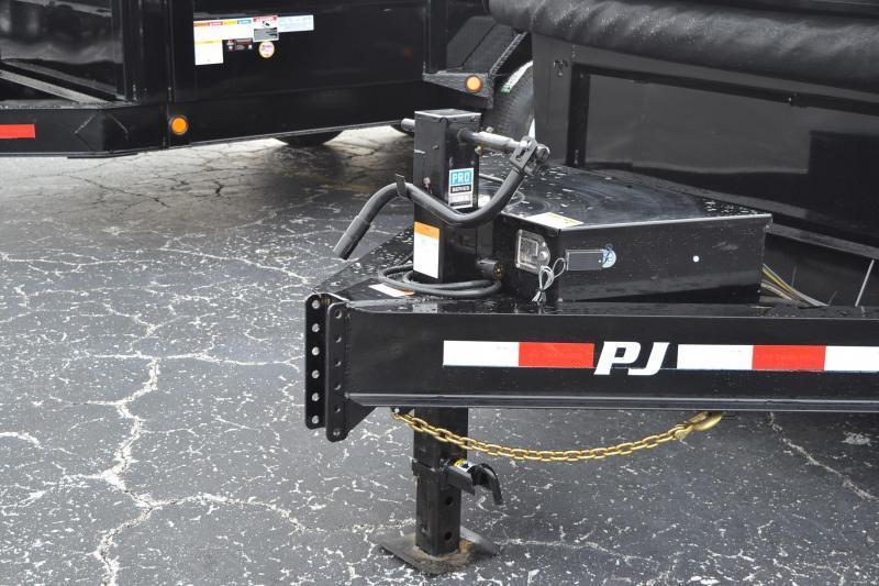 7x16 PJ   Low Pro 14K GVWR Dump Trailer