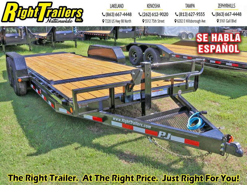 7X20 PJ Trailers 6 in. Channel Equipment Tilt (T6) Equipment Trailer
