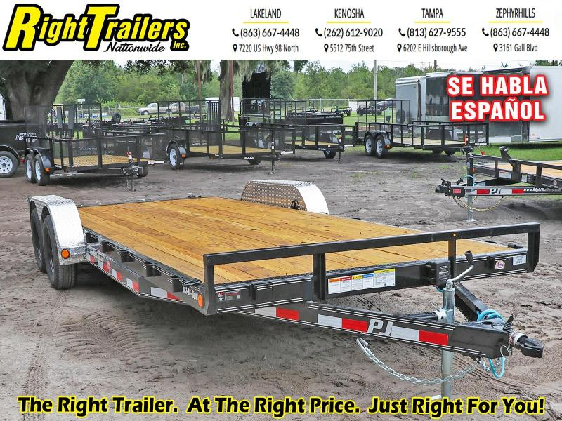 7X22 PJ Trailers 5 in. Channel Carhauler (C5) Equipment Trailer