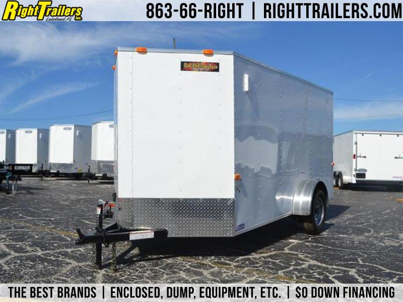 6x12 Red Hot Trailers   Enclosed Cargo Trailer