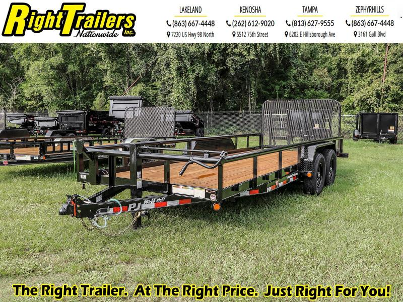 7X20 PJ Trailers Angle Pipetop (P8) Utility Trailer