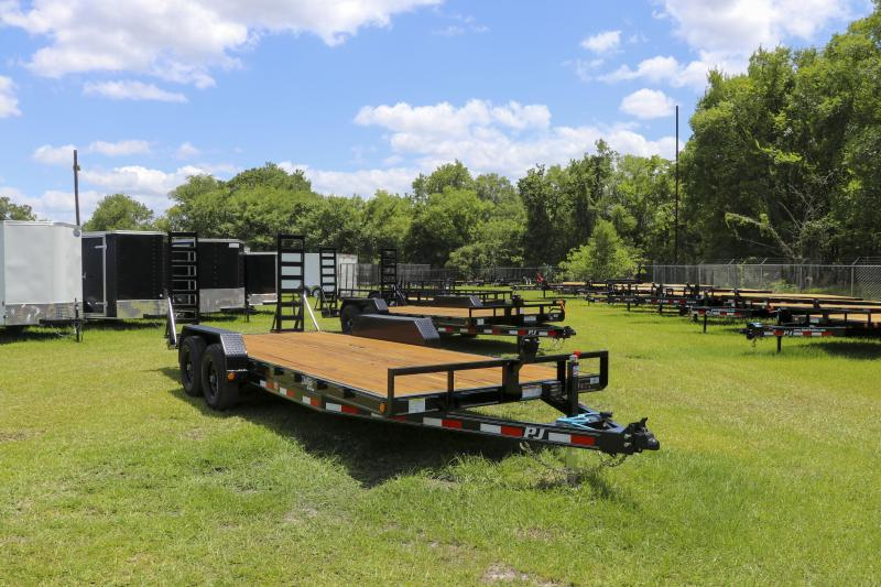 7x20 PJ Trailers 5 in. Channel Equipment (CE) Equipment Trailer