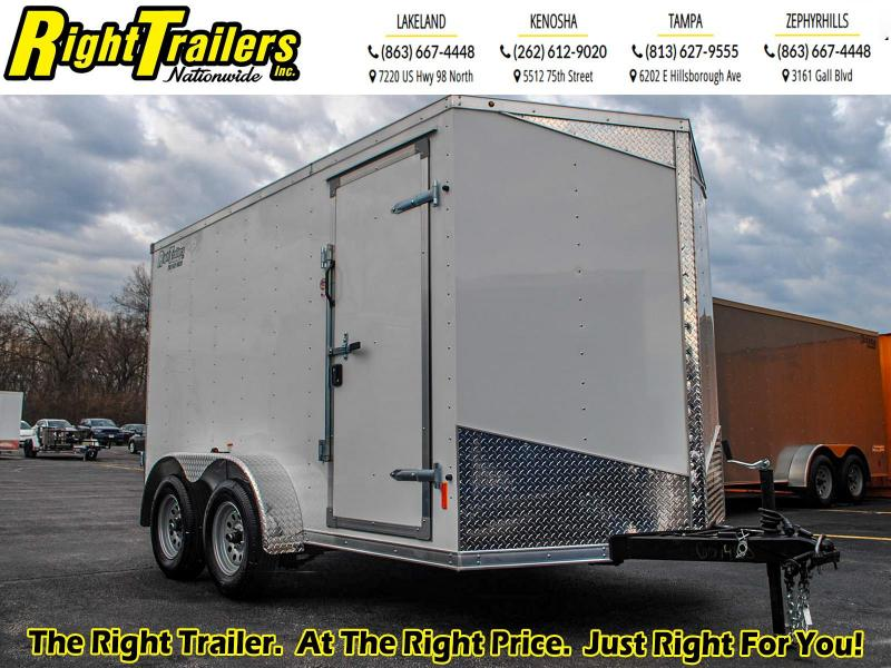 7X12 RC Trailers I 7K Tandem Axle Enclosed Cargo Trailer