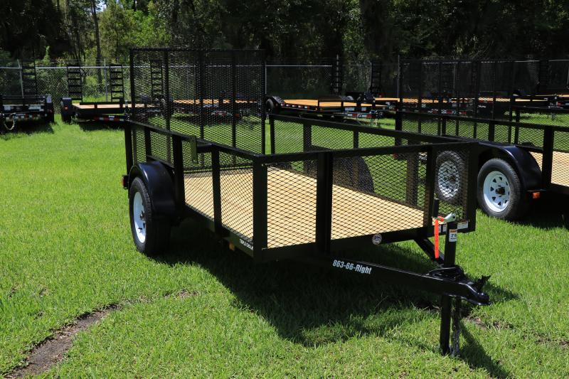 5X10 Red Hot Utility Trailer w/ 2' Mesh Sides